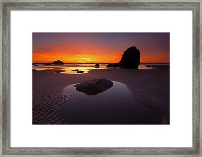 Ripples And Reflections Framed Print by Mike  Dawson