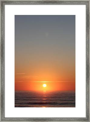 Rising Of The Sun Framed Print by Static Studios