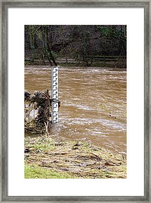 Rising River Level Framed Print by Mark Williamson