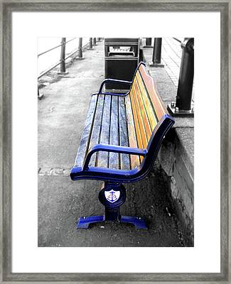 River Bench Framed Print by Roberto Alamino