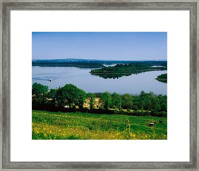 River Cruising, Upper Lough Erne Framed Print by The Irish Image Collection