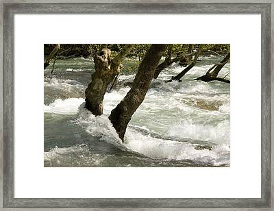 River Manavgat In Flood Framed Print by Bob Gibbons