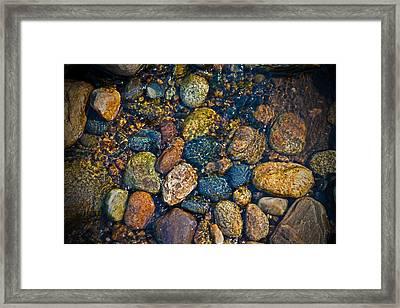 River Rock Framed Print by Karol Livote