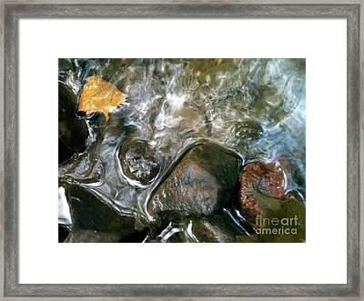 River Swirls Framed Print by Trish Hale