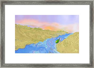 River To The Sea Framed Print by Mathilde Vhargon