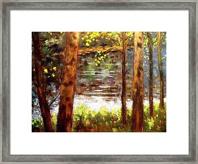 River Trees Framed Print by John  Nolan