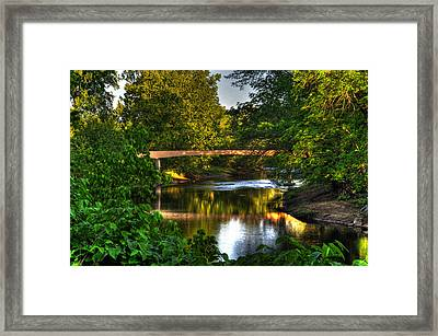 River Walk Bridge Framed Print by Greg and Chrystal Mimbs