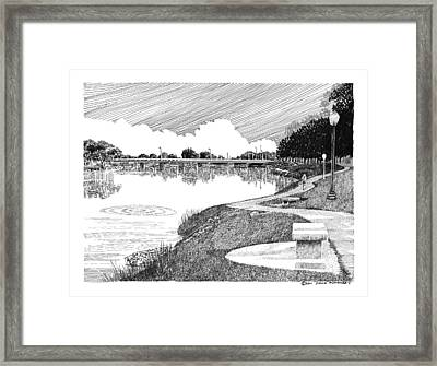 Riverwalk On The Pecos Framed Print by Jack Pumphrey