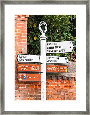 Road Signs Framed Print by Tom Gowanlock