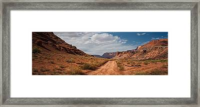 Road Through The Old West Framed Print by C Thomas Willard