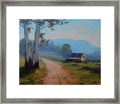 Road To The Farm Framed Print by Graham Gercken