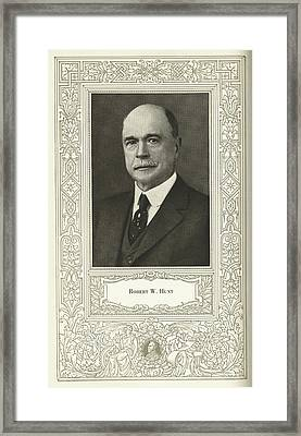 Robert W. Hunt, Us Engineer Framed Print by Science, Industry & Business Librarynew York Public Library