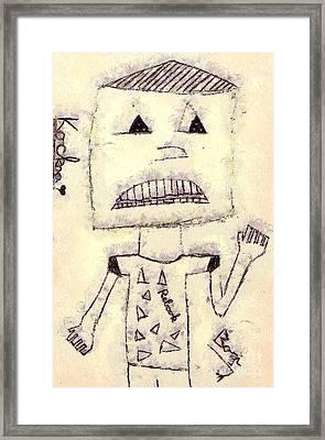 Robot Framed Print by Odon Czintos