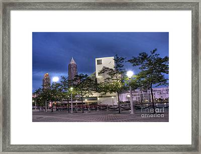 Rock And Roll Plaza Framed Print by David Bearden
