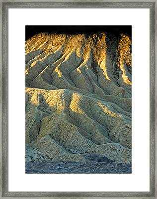 Rock Formations At Death Valley Framed Print by Dave Mills