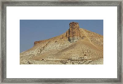 Rock Formations Of Wyoming Framed Print by Bruce Bley