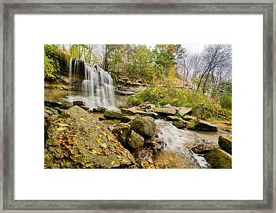 Rock Glen Falls Framed Print by Cale Best