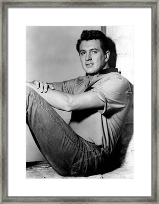 Rock Hudson, C. Mid 1950s Framed Print by Everett