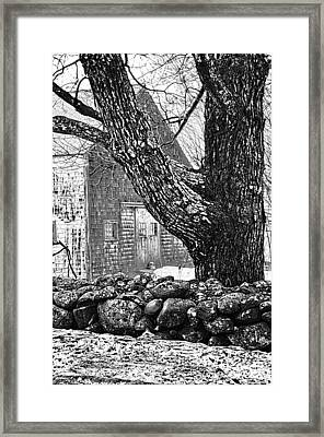Rock Wall  Framed Print by Janet White