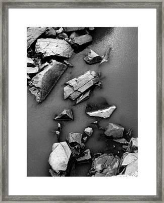 Rockfall Framed Print by Steven Ainsworth