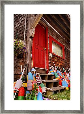 Rockport Buoys Framed Print by Joann Vitali