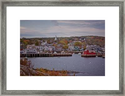 Rockport Harbor Framed Print by Tom Singleton