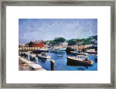 Rockport Maine Harbor Framed Print by Michelle Calkins
