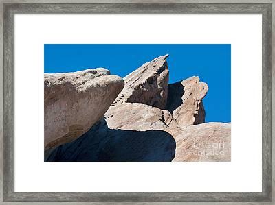 Rocks In Perspective Framed Print by Dan Holm