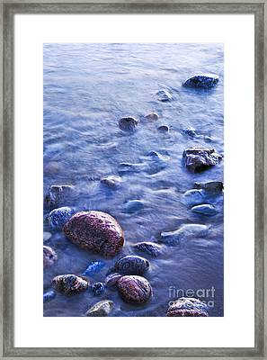 Rocks In Water Framed Print by Elena Elisseeva