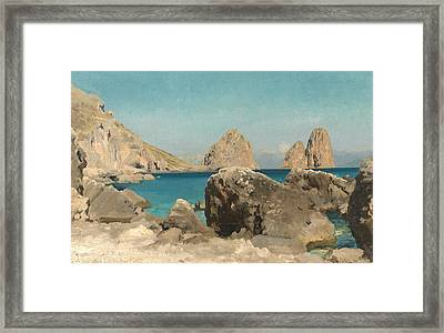 Rocks Of The Sirens Framed Print by Frederic Leighton