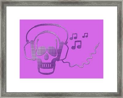 Rockskull Framed Print by Liona Toussaint