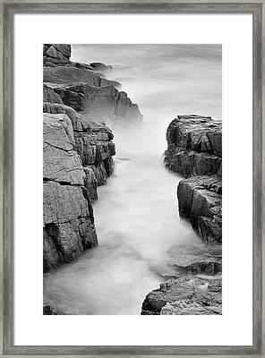 Rocky Coast Of Acadia - No 2  Framed Print by Thomas Schoeller