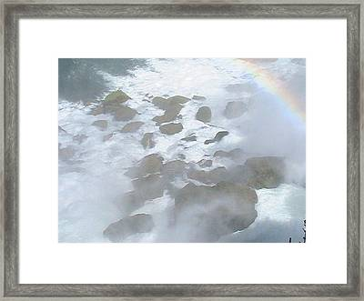 Rocky Mist Framed Print by Rachel Snell