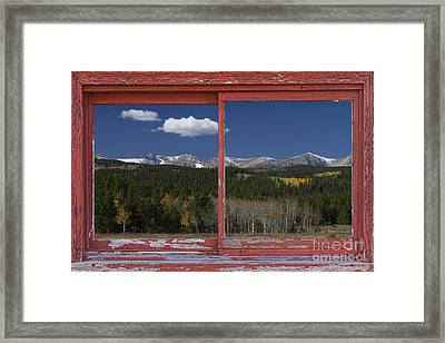 Rocky Mountain Autumn Red Rustic Picture Window Frame Photos Art Framed Print by James BO  Insogna