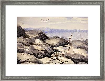 Rocky Shore Framed Print by Kristine Plum