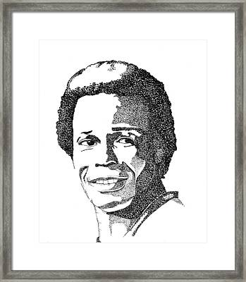 Rod Carew Sports Portrait Framed Print by Marty Rice