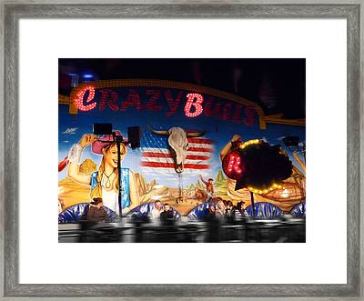 Rodeo Ride Framed Print by Charles Stuart