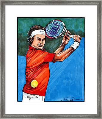 Roger Federer Framed Print by Dave Olsen