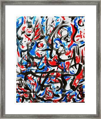 Rojo Azul 10 Framed Print by Bradley