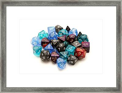 Role-playing Dices Framed Print by Fabrizio Troiani