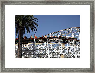 Roller Coaster - 5d17608 Framed Print by Wingsdomain Art and Photography