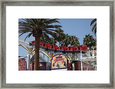 Roller Coaster - 5d17628 Framed Print by Wingsdomain Art and Photography