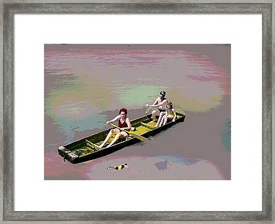 Rolling On The River Framed Print by Charles Shoup