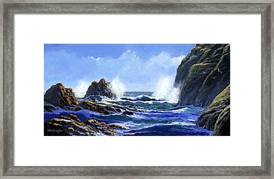 Rolling Surf Framed Print by Frank Wilson