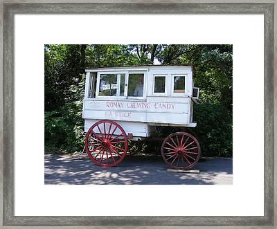 Roman Candy Wagon Framed Print by Renee Barnes