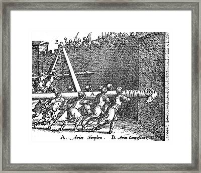Roman Soldiers Attacking Fortress  Framed Print by Photo Researchers