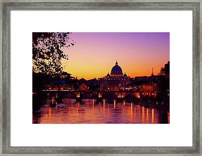 Roman Sunset Framed Print by Karl Borg