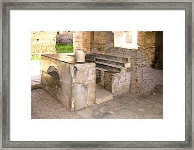 Roman Tavern, Ostia Antica Framed Print by Sheila Terry