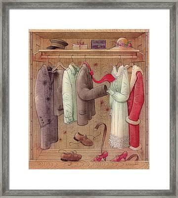Romance In The Cupboard Framed Print by Kestutis Kasparavicius
