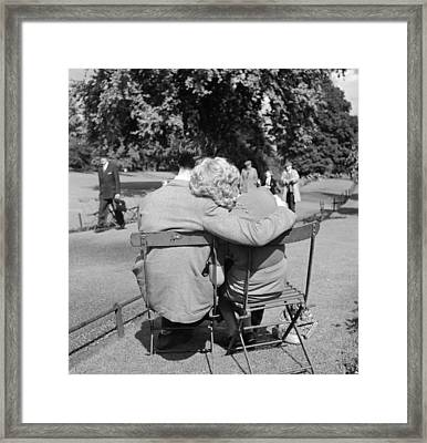 Romantic Couple Framed Print by Haywood Magee